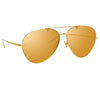 Linda Farrow Pine C1 Aviator Sunglasses