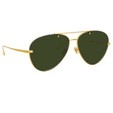 Linda Farrow 859 C4 Aviator Sunglasses