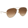 Linda Farrow Pine C6 Aviator Sunglasses