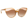 Linda Farrow Ash C2 Cat Eye Sunglasses
