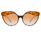 Linda Farrow Ash C4 Cat Eye Sunglasses