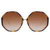 Linda Farrow 901 C2 Oversized Sunglasses
