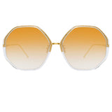 Linda Farrow 901 C9 Oversized Sunglasses