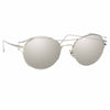 Linda Farrow Violet C2 Oval Sunglasses