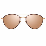 Linda Farrow 954 C5 Aviator Sunglasses
