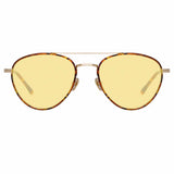 Linda Farrow Brodie C7 Aviator Sunglasses