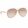 Linda Farrow 963 C2 Aviator Sunglasses