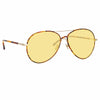 Linda Farrow 963 C8 Aviator Sunglasses