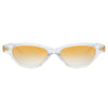 Linda Farrow Alessandra C4 Cat Eye Sunglasses