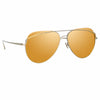 Linda Farrow Colt C3 Aviator Sunglasses