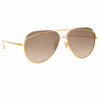 Linda Farrow 975 C6 Aviator Sunglasses