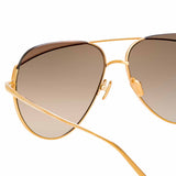 Linda Farrow Colt C6 Aviator Sunglasses