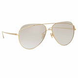 Linda Farrow Colt C7 Aviator Sunglasses