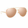 Linda Farrow 992 C4 Aviator Sunglasses