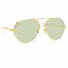 Linda Farrow Ace C7 Aviator Sunglasses