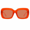 Linda Farrow Lavinia C3 Rectangular Sunglasses