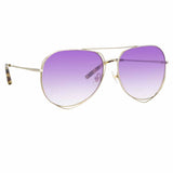 Matthew Williamson Heather C11 Aviator Sunglasses