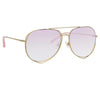 Matthew Williamson 222 C5 Aviator Sunglasses