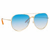Matthew Williamson 222 C8 Aviator Sunglasses