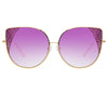 Matthew Williamson Orchid C5 Oversized Sunglasses