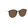 Linda Farrow Linear 02A C9 Oval Sunglasses