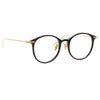 Linda Farrow Linear Gray C1 Oval Optical Frame
