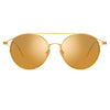Linda Farrow Mina C1 Oval Sunglasses
