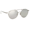 Linda Farrow Mina C2 Oval Sunglasses