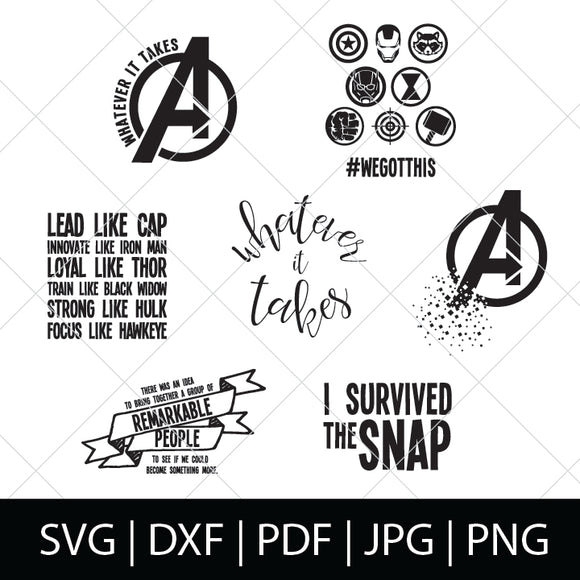 AVENGERS SVG BUNDLE