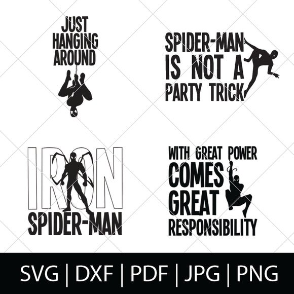 SPIDER-MAN SVG BUNDLE