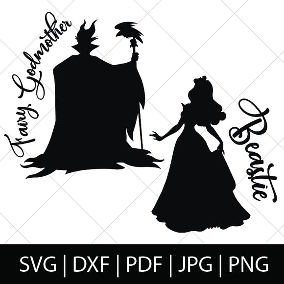 MALEFICENT AND AURORA BUNDLE - SLEEPING BEAUTY SVG FILES