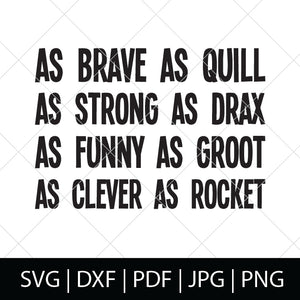 GUARDIANS CHARACTER TRAITS - GUARDIANS OF THE GALAXY SVG FILE