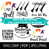 COME, WE FLY BUNDLE - HOCUS POCUS SVG FILES