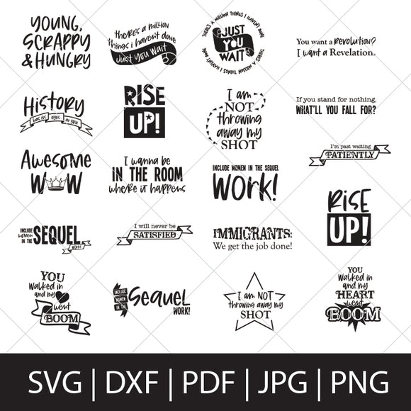 HAMILTON SVG BUNDLE