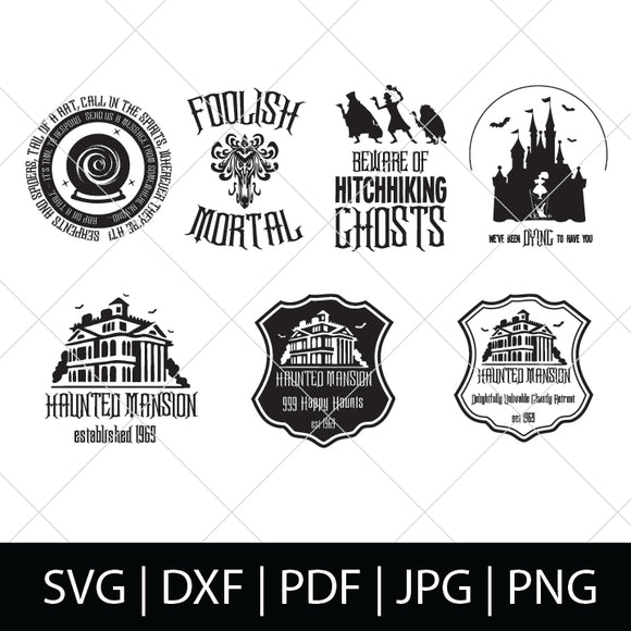 HAUNTED MANSION SVG BUNDLE