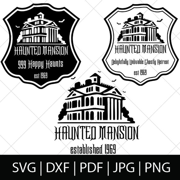 HAUNTED MANSION RIDE SVG FILES
