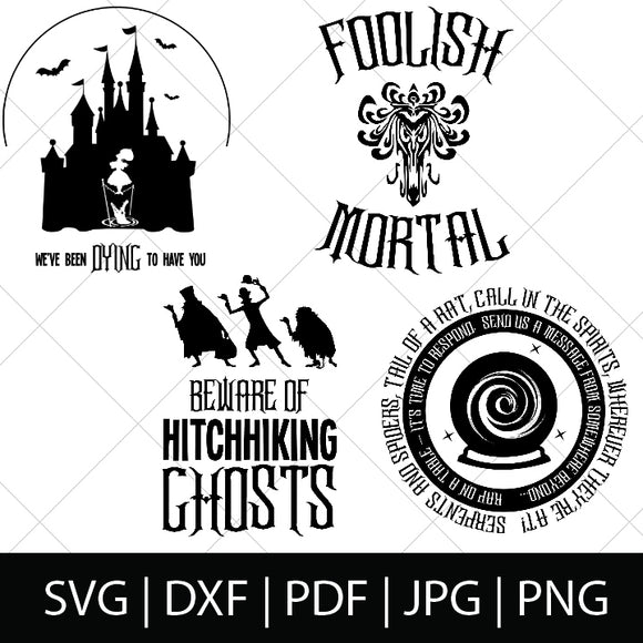HAUNTED MANSION CHARACTER SVG FILES