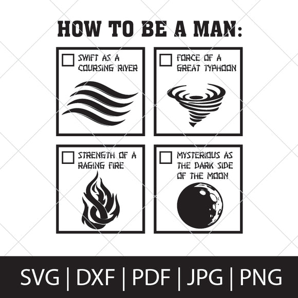 HOW TO BE A MAN - MULAN SVG FILE