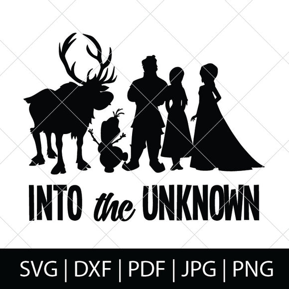 INTO THE UNKNOWN SVG FILE - FROZEN SVG FILES