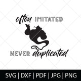 OFTEN IMITATED NEVER DUPLICATED - GENIE SVG FILE