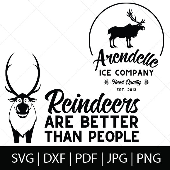 SVEN SVG BUNDLE - FROZEN SVG FILES
