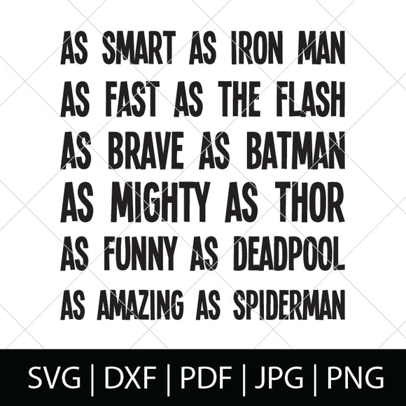 SUPERHERO CHARACTER TRAITS SVG FILE
