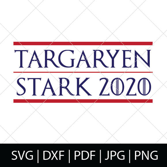 TARGARYEN STARK 2020 - GAME OF THRONES SVG FILE