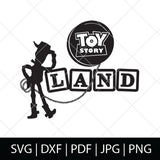 TOY STORY LAND SVG FILE