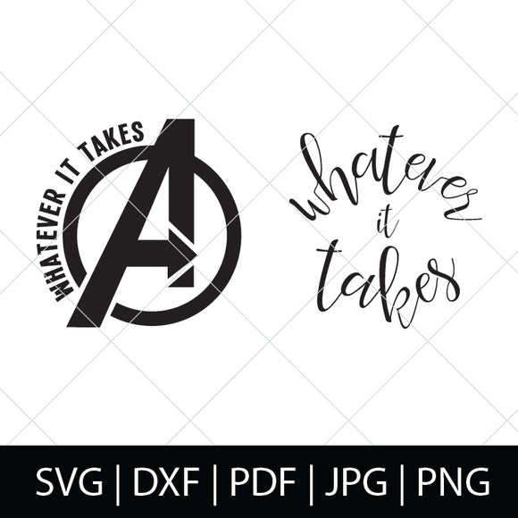 AVENGERS WHATEVER IT TAKES SVG BUNDLE
