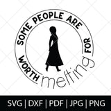 SOME PEOPLE ARE WORTH MELTING FOR - FROZEN SVG BUNDLE - DISNEY GROUP SHIRTS
