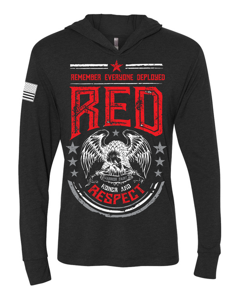 Unisex Triblend Hooded Tee - RED