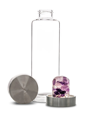 Wellness Crystal Glass Bottle