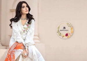 NOOR VOL-2, DESIGNER LAWN COTTON SUIT WITH HEAVY EMBROIDERY ( SET OF 2)