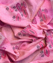 PANKHUDI--Lenin Silk Saree with All over Print & Silver Border both the side ( SET OF 5) Printed Sarees catalogue